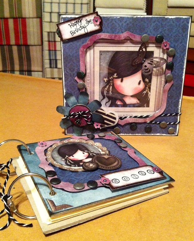 Gorjuss card and matching notebook by: Modbird41