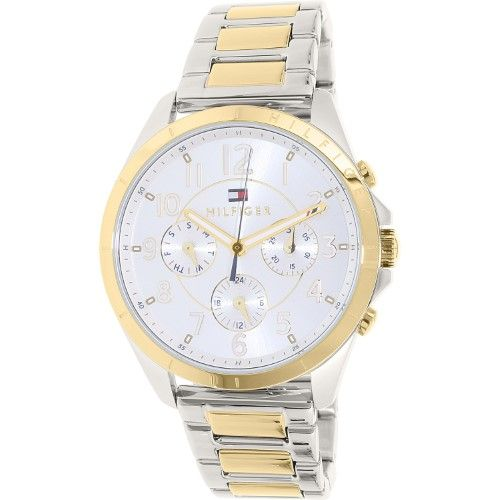 Tommy Hilfiger Two-Tone Ladies Watch 1781607, Size: 36mm, Silver