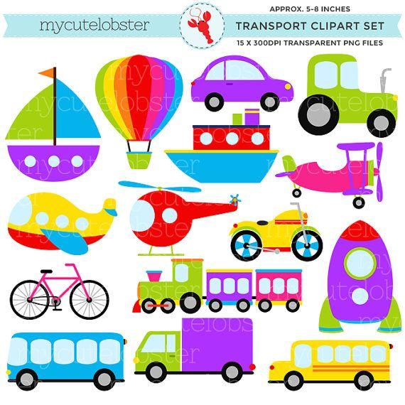 transport clipart set clip art set of transportation