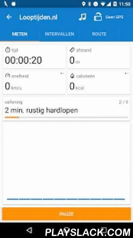 Looptijden.nl GPS Hardloop-app  Android App - playslack.com ,  Met de gratis Looptijden.nl app (tot 'sport app van het jaar' verkozen!) kun je heel eenvoudig je hardlooproute opnemen op je Android mobiel. Tijdens het hardlopen zie (en hoor) je direct je snelheid, de gelopen afstand en route en het aantal verbruikte calorieën!Belangrijkste features: actueel weerbericht, Nederlandstalige audiocoaching, hardloopschema's, live-tracking, trainingsdoelen, ghost-running, levels, ondersteuning voor…
