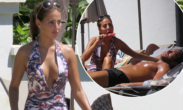 TOWIE's Yazmin Oukhellou shows off figure in swimsuit | Daily Mail Online
