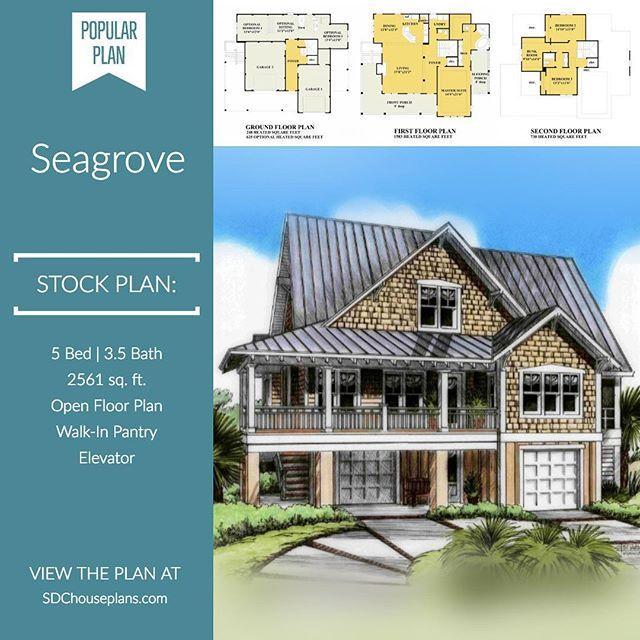 Seagrove Coastal Cottage Beach House Plans Coastal House Plans