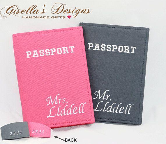 Mr. and Mrs. Passport Holder Wedding Gift
