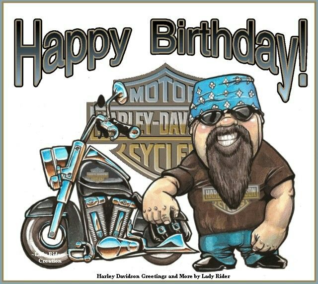 free harley davidson birthday cards