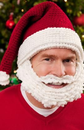 Santa hat and beard. Ho ho ho . . .