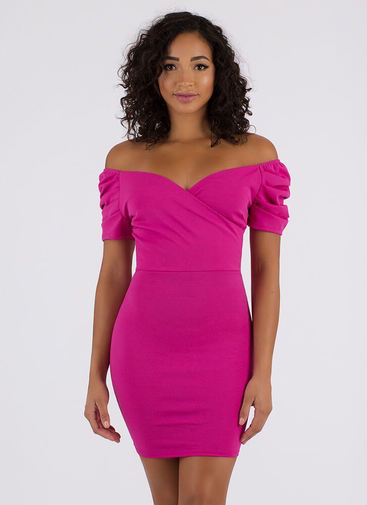 Puffy Shoulder Dress