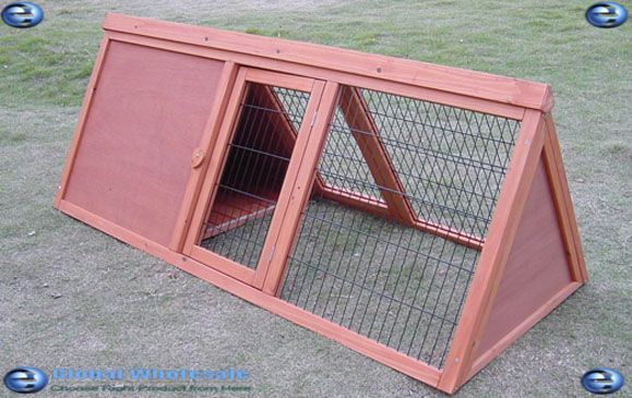 A frame rabbit hutch plans free woodworking projects plans for Rabbit hutch designs