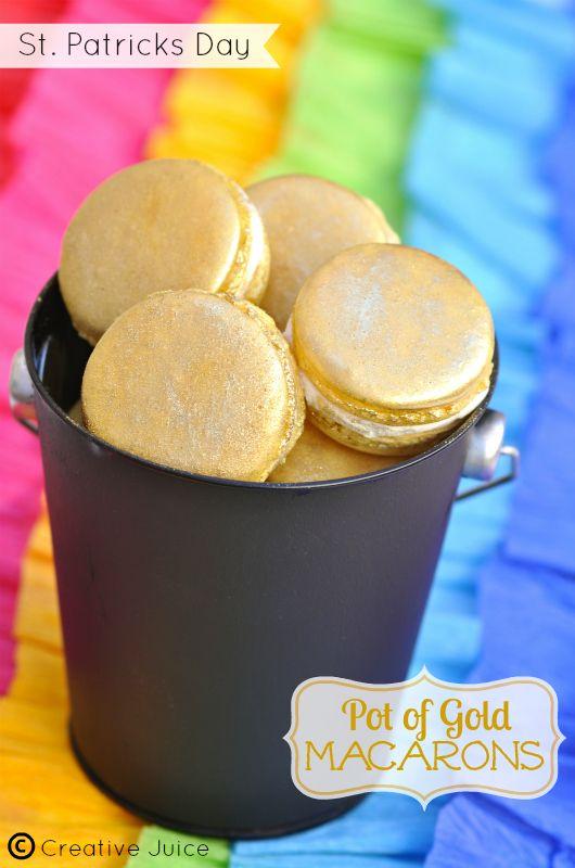 {MACARON} pot of gold at the end of the rainbow - Creative Juice | @Mindy CREATIVE JUICE | getcreativejuice.com