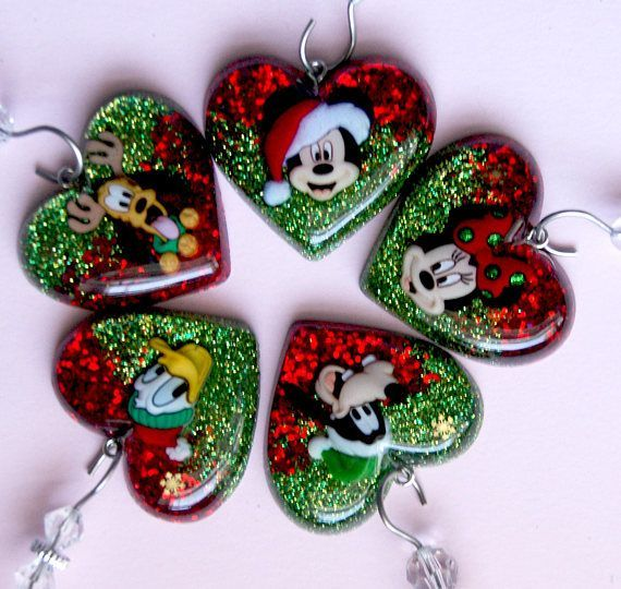 Christmas Resin Ornaments Handmade Kawaii Ideal For Christmas Tree Resin Jewelry Diy Resin Crafts Diy Resin Crafts