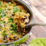 Chicken Enchilada Skillet One Pot Meal - A Pinch of Healthy