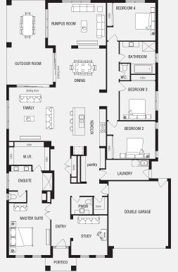 fortitude new home floor plans interactive house plans metricon homes south australia - Single Story House Plans