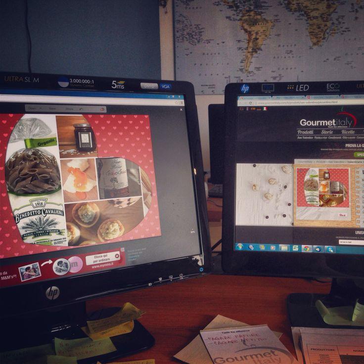 #workinprogress #gourmetitaly #onthejob #ecommerce #valentinesday #valentinesideas