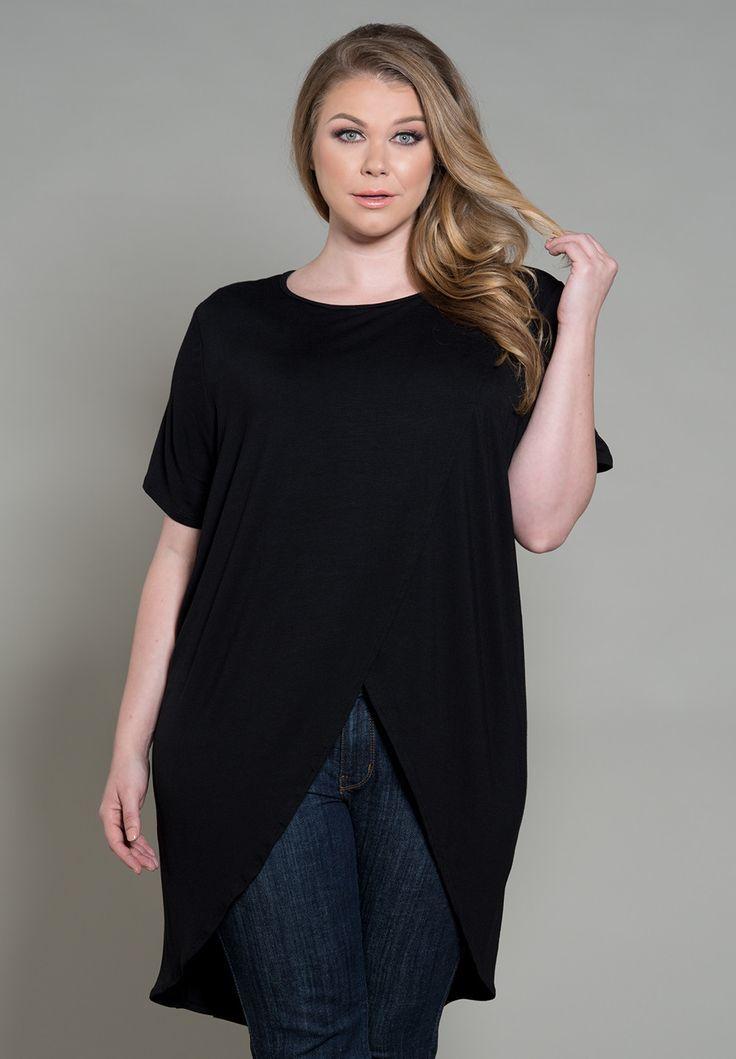 plus-size-fashion Plus Size Shirley Top - SWAKdesigns.com - shirleytop_black / 1X / Final Sale - 2