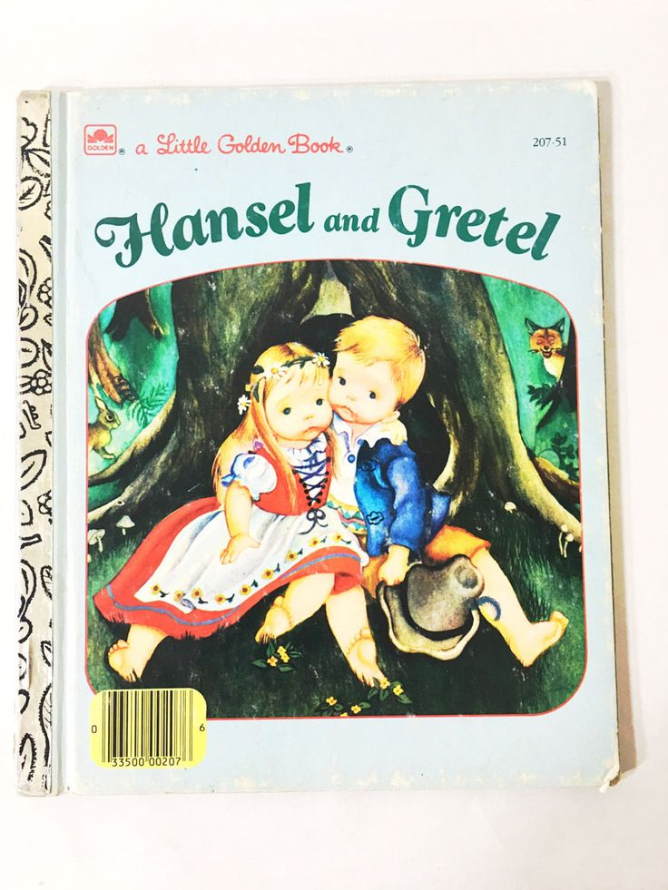 Hansel and Gretel by Brothers Grimm. Little Golden Book. Brothers Grimm story with Eloise Wilkin. LGB. Number 207-51