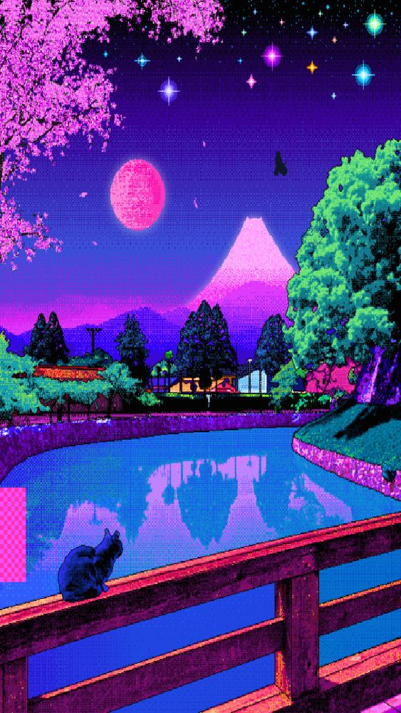 pixel art wallpaper Tumblr Vaporwave wallpaper