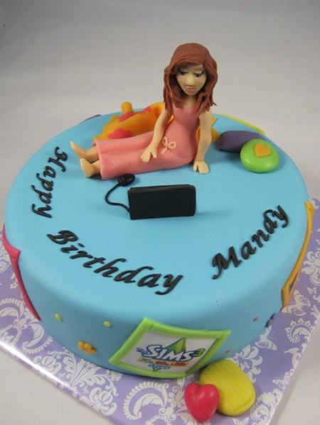 The Sims cake / Sims thema taart met chocolade figuur
