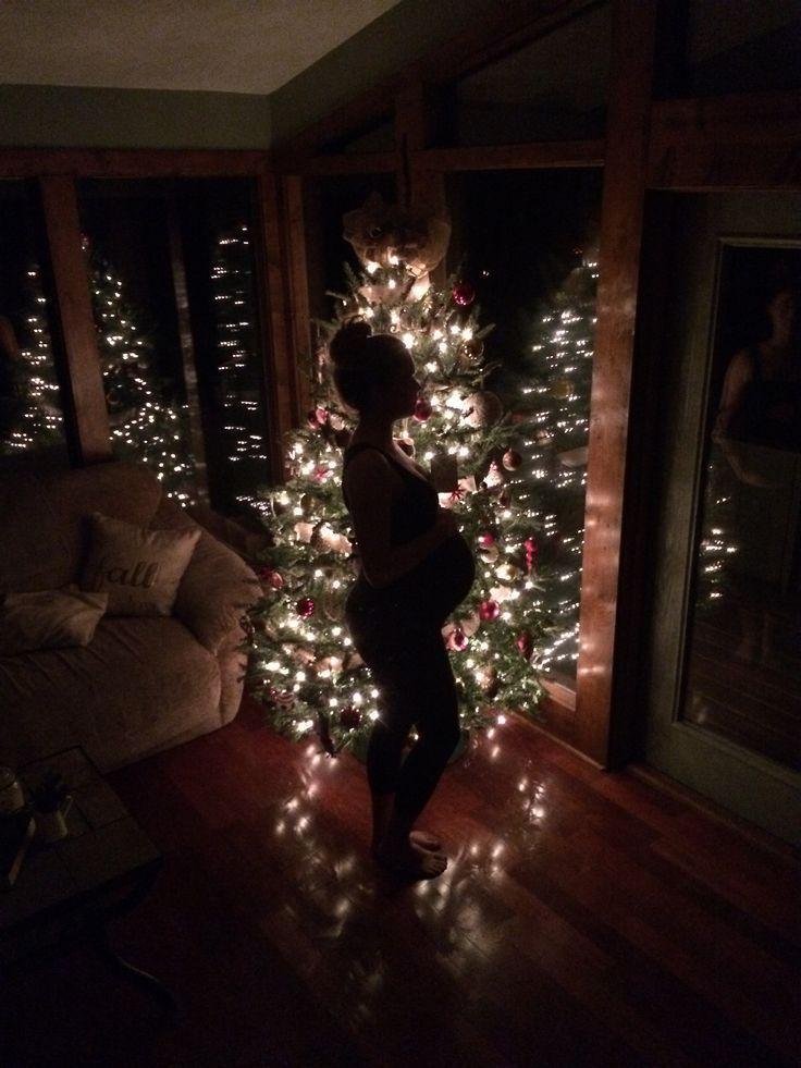 Weihnachtsbaum Mutterschaft Bild schwangeren Bauch Weihnachtsbeleuchtung – #Bell…