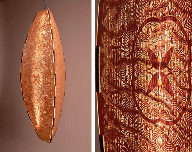 laser-cut LED lamps, David Hakaraia lamps, Maori lamps, New Zealand design, NY…
