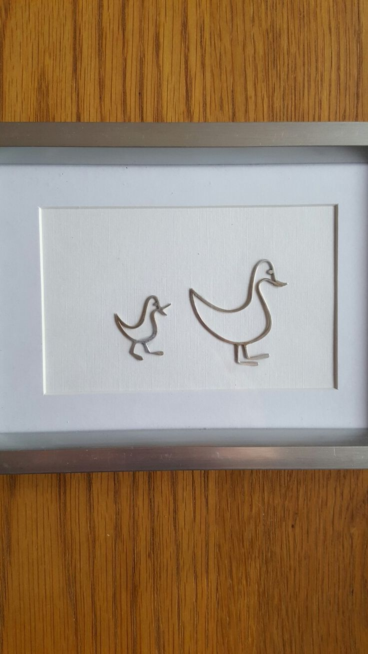 Ey up, two little ducks, made from sterling silver wire #handmade #silversmith
