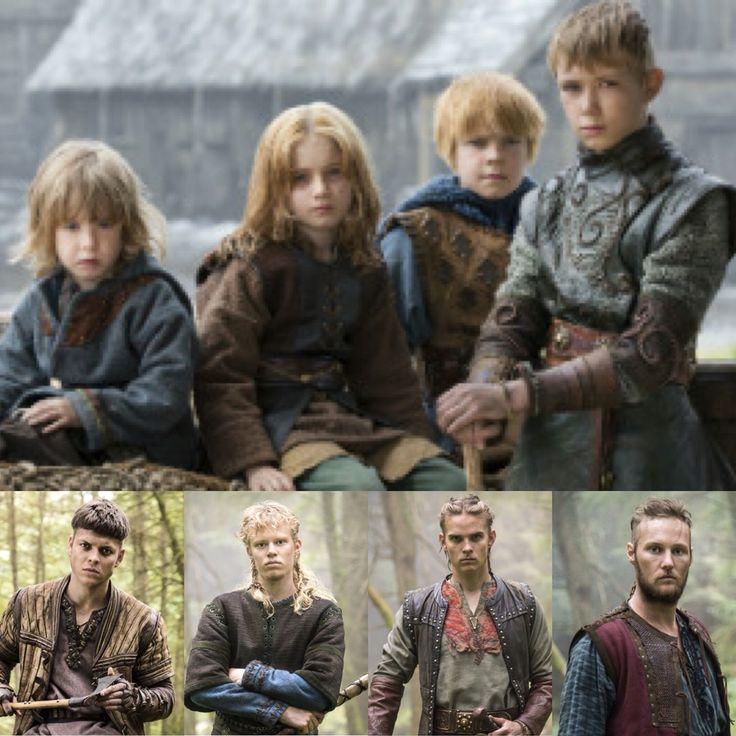 Ivan, Sigurd, Hvitserk and Ubbe. Sons of Ragnar Lothbrok and Aslaug Sigurdsdottir   the Vikings