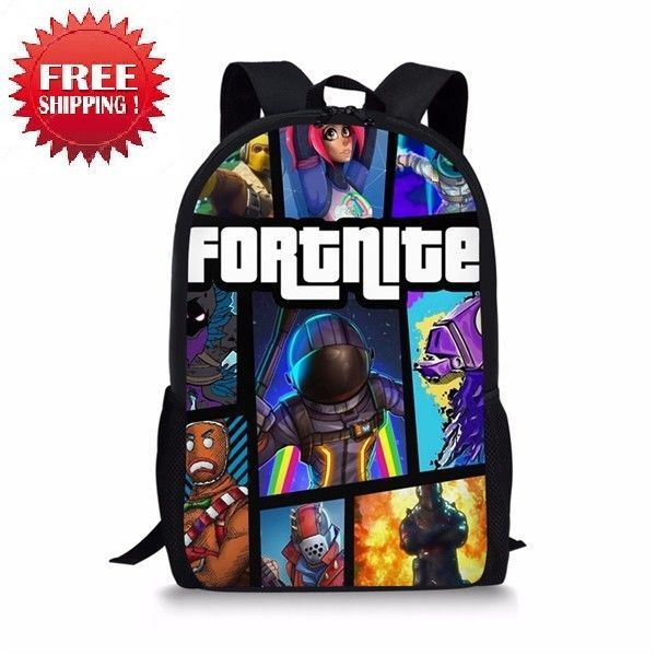 03488a16a4a6 NEW  Fortnite Backpack  BattleRoyale Student Book Bag School Boys Girls  Backpack