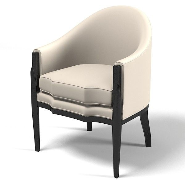 3d model eve furniture ebas - Eve furniture ebas modern art deco contemporary club chair... by archstyle