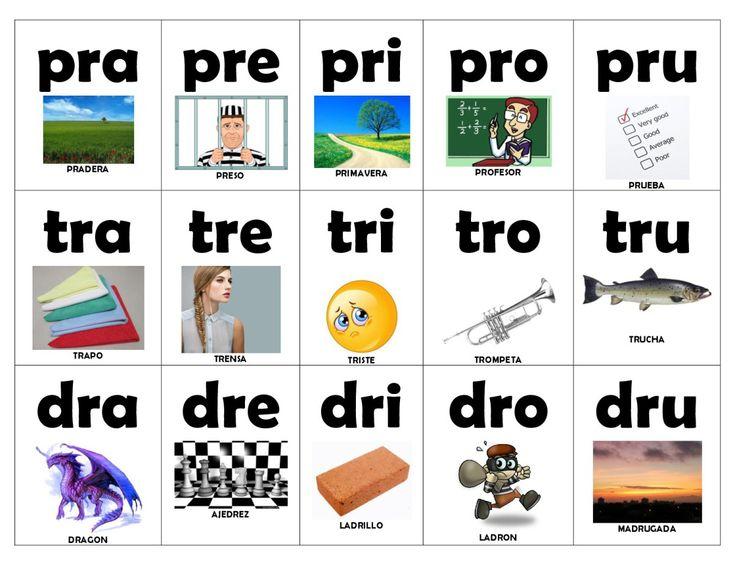 Manipulativo didáctico para aprender las vocales y las sílabas. Diferentes formatos.
