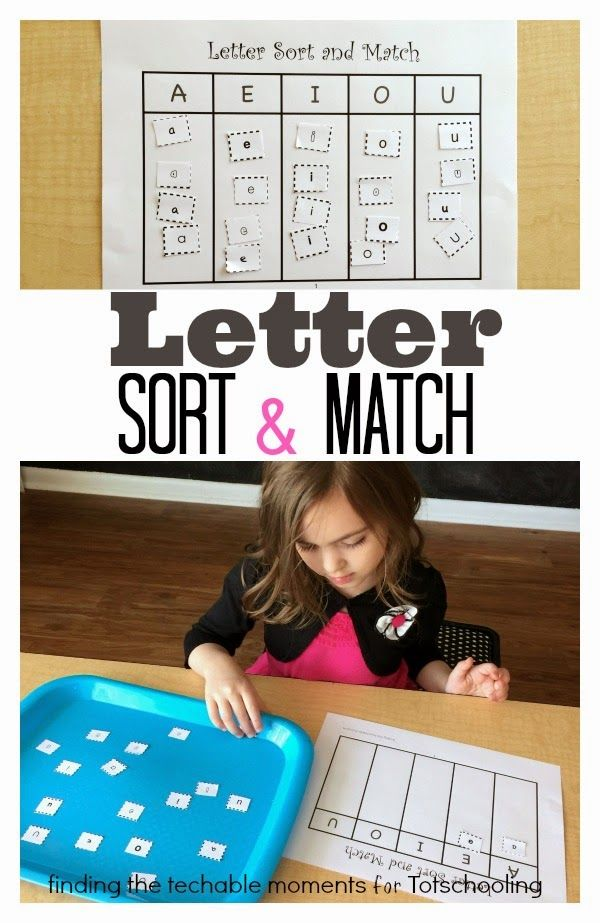 FREE printable activity:  Upper and Lowercase Letter Sort & Match