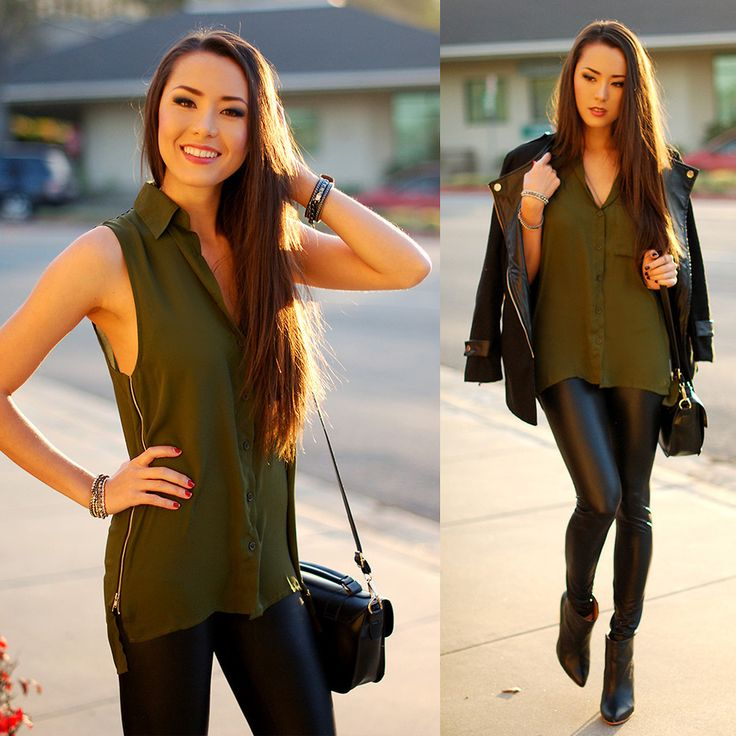 Jessica R. - Love Me Some Faux Leather | Jessica r. style | Pinterest