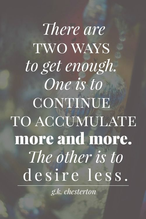 Do you desire more, or less in more?? Weekend links to get you thinking!