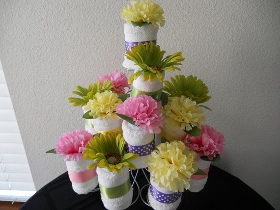 NEW Adult Washcloth Cupcake  Table Centerpiece by grandmasswirlz, $15.00