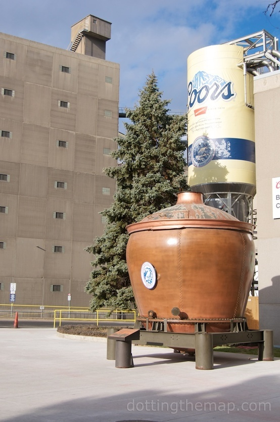 Coors Brewery, Golden, Colorado | A sample of the brew at the end of the tour...