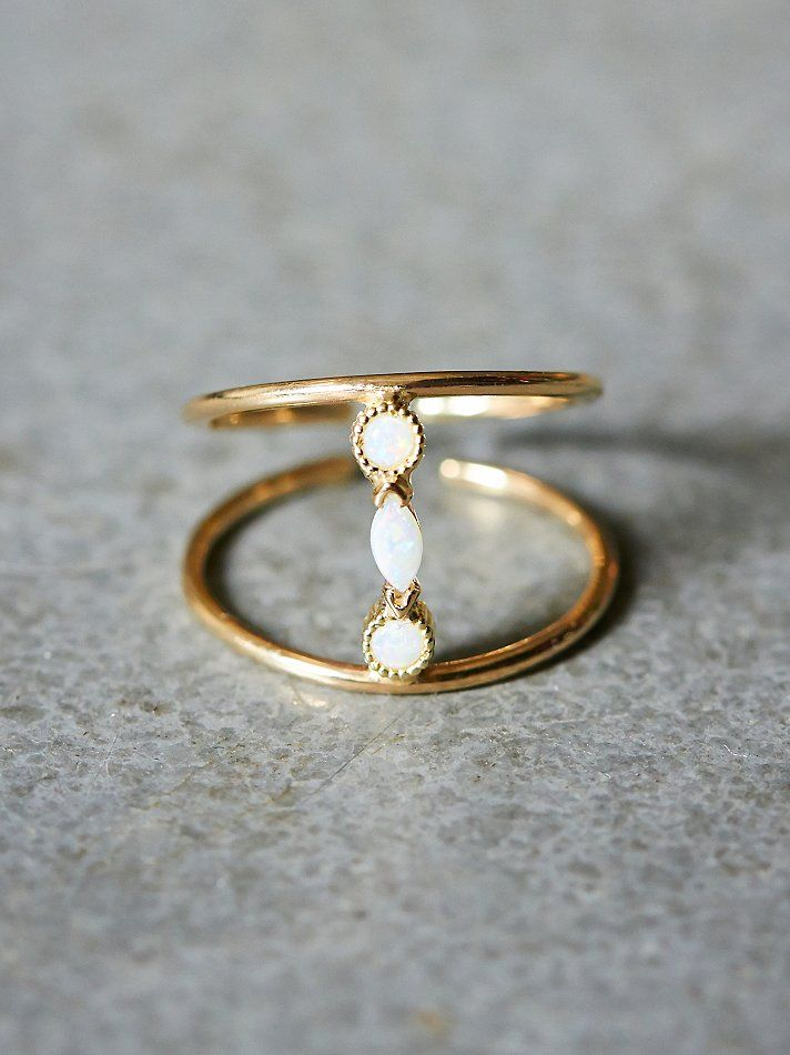 //white flower STYL pick // Katie Diamond Adelaide Ring at Free People Clothing Boutique