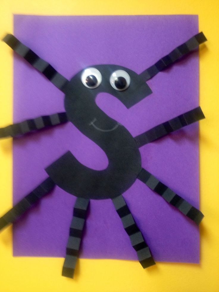 S is for Spider | Alphabet Crafts - Embedded Picture ... Letter S Activities For Preschool