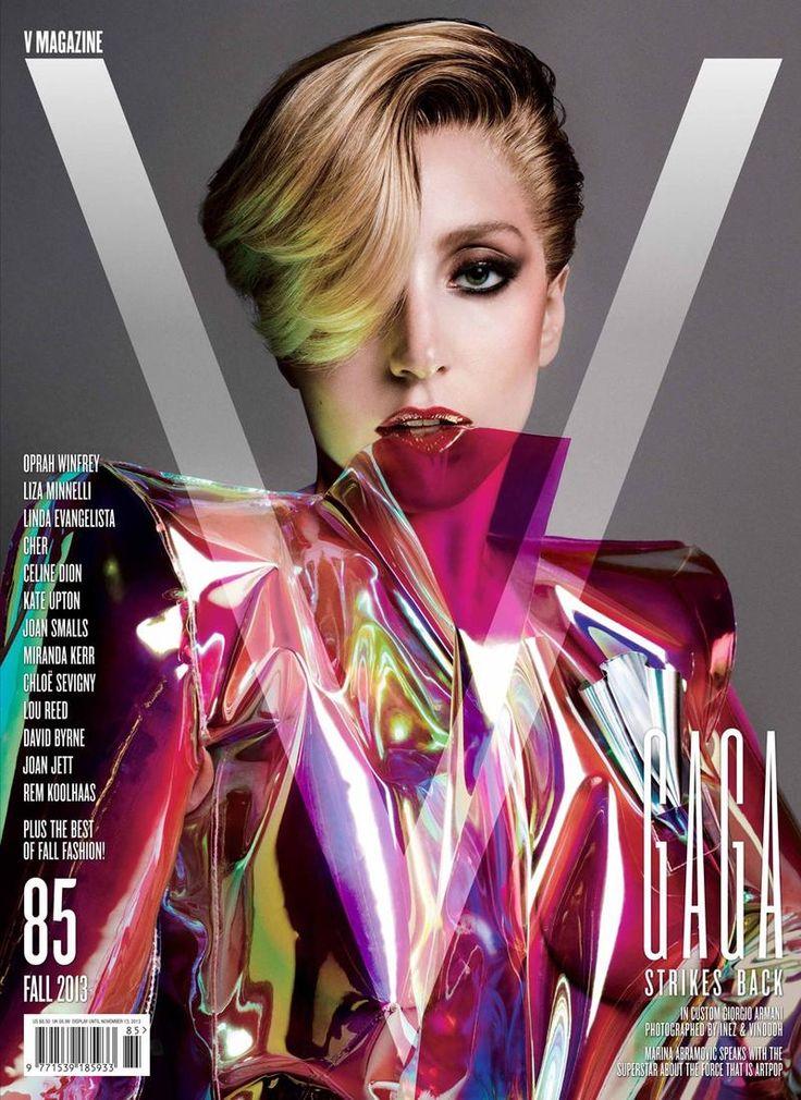 V Magazine Fall 2013 Cover: Lady Gaga - Model/Star Inez van Lamsweerde and Vinoodh Matadin (Photographer) Brandon Maxwell (Fashion Editor/Stylist) Shay Ashual (Hair Stylist) Yadim (Makeup Artist) Jin Soon Choi (Manicurist) Stephen Galloway (Choreographer)
