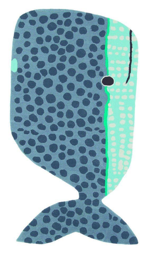 Hij is er weer: het razend populaire kinderkamer vloerkleed Buddy, in de vorm van een grote zachte walvis! Dutch Design van Brink & Campman (Xian Kids).