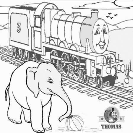 3 Drawing Railway Clipart Preschool Crafts The Train Henry And Elephant Cartoon Colouring Pages