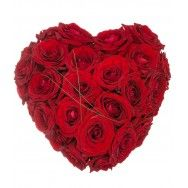 Inima din trandafiri de Sfantul Valentin