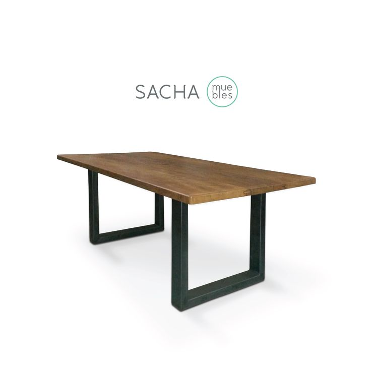 : : : Mesa Bronx : : : Madera y hierro negro. #muebles #diseños a medida www.sachamuebles.com