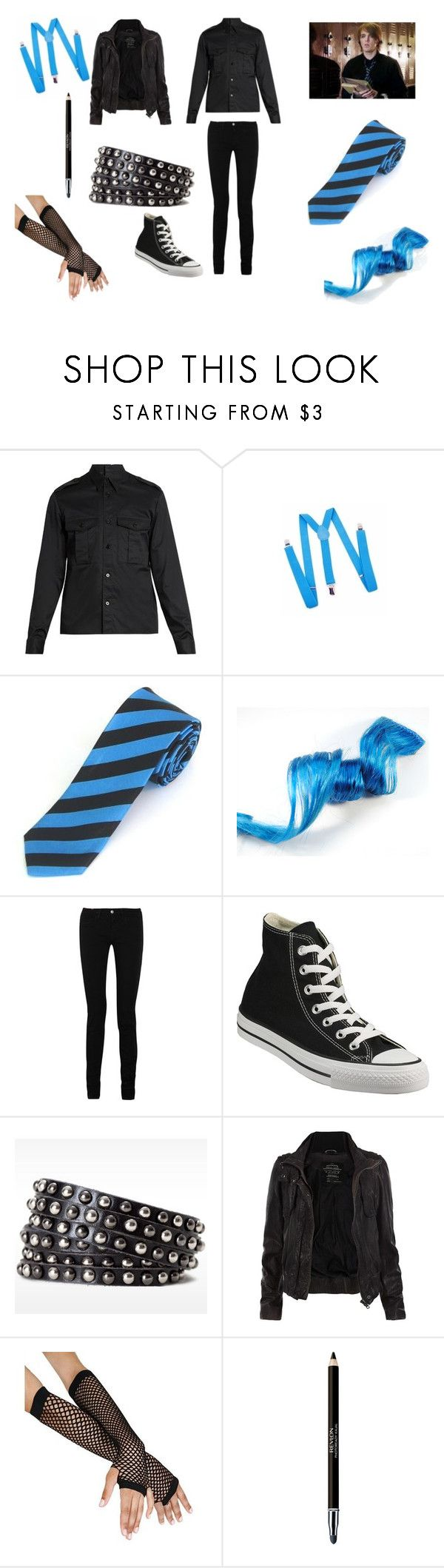 """""""Switch <3"""" by lily-poindexter ❤ liked on Polyvore featuring Maison Margiela, Notify, Converse, Linea Pelle, AllSaints and Revlon"""