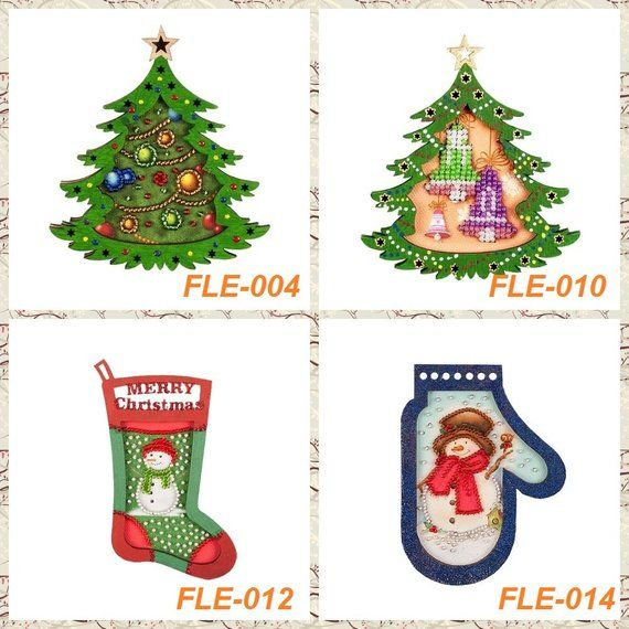 Christmas Ornament Kit Christmas Toys Christmas Tree Christmas Gift Christmas Decoration Kits Bead Embroidery Kit Xmas Toy Hand Embroidery Novyj God