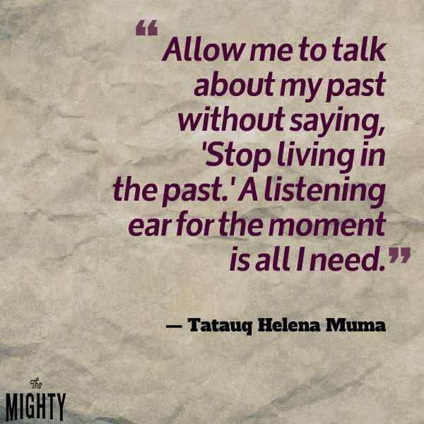PTSD - allow me to talk about my past