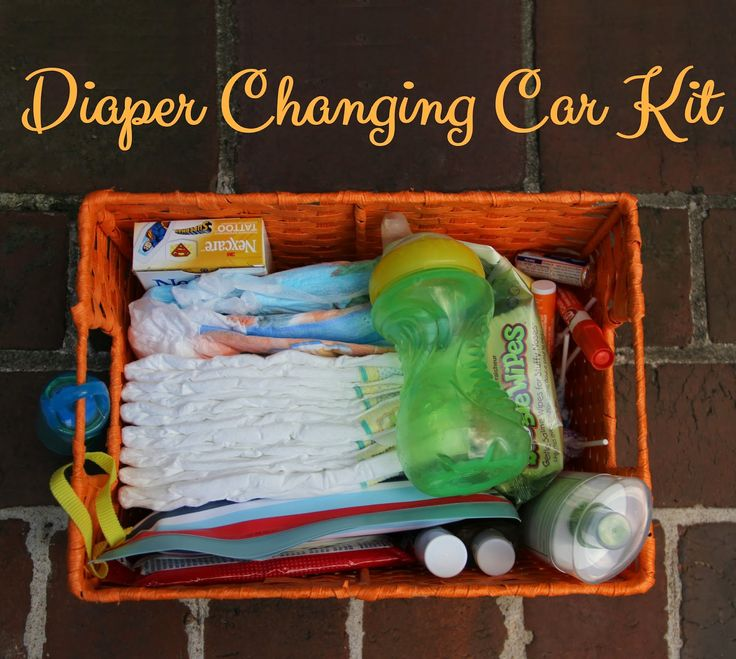 Running from the Law: DIY Diaper Changing Car Kit