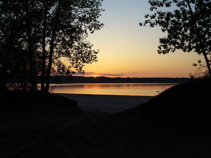 Lake Diefenbaker, Saskatchewan. Serene Sunset!