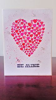 Hearts card for Valentine's Day.
