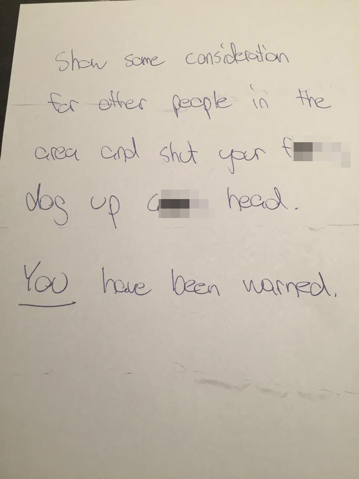 Anonymous letter sent to Adam Persson 195