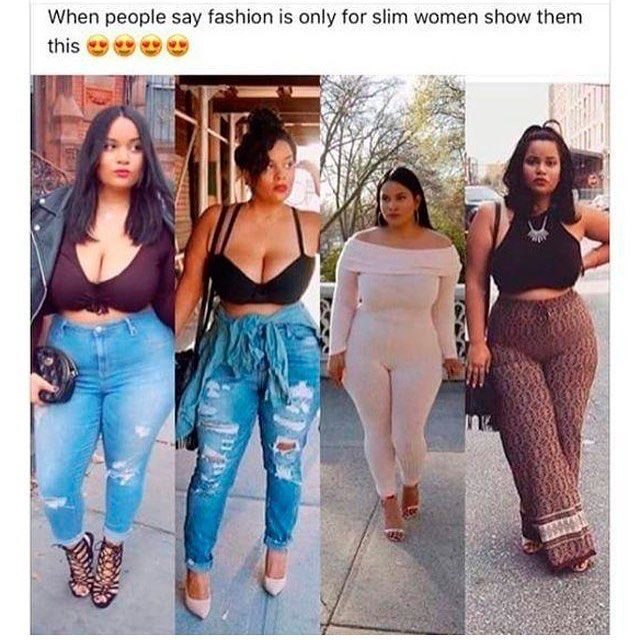 """SHUT UP FATASS ! we never said that , because most things skinny girls wear look better on girls who are big bone (okay , sweetheart """"shut up FATASS"""" isn't being referred to in the girl in the photo.. and nor am I talking about weight 🤦🏾♀️💀💀🤦🏾♀️💀🤦🏾♀️💀 lmfaoo """"shut up FATASS"""" is used in the spam community it means no harm whatsoever)  via ✨ @padgram ✨(http://dl.padgram.com)"""