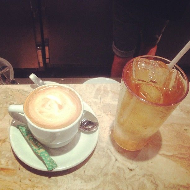It's Monday, get a delicious dose of caffeine with a cappuccino or a black tea!