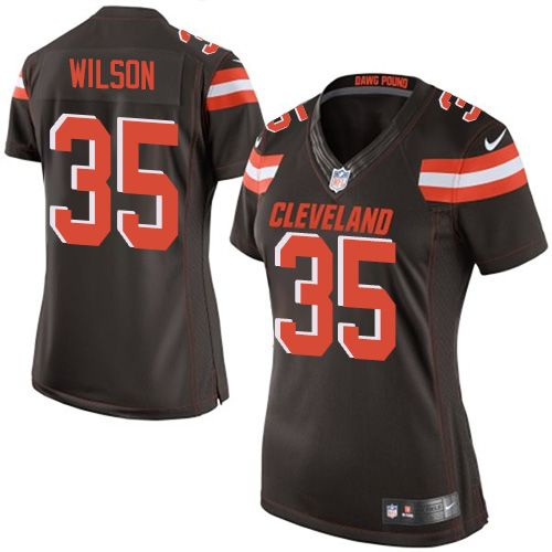Women's Nike Cleveland Browns #35 Howard Wilson Limited Brown Team Color NFL Jersey