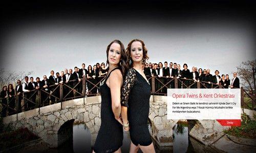Müzikalseverler 15 Aralık'ta Opera Twins ve İBB Kent Orkestrası'nın aynı sahneyi paylaşacağı etkinlikte CRR Konser Salonu'nda buluşuyor.